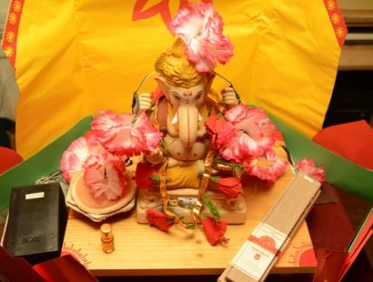 Solar decoration of ecofriendly Ganesha a