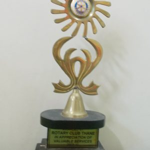 Awarded by Rotary Club Thane, IN Appreciation of Valuable Services 2009-10.
