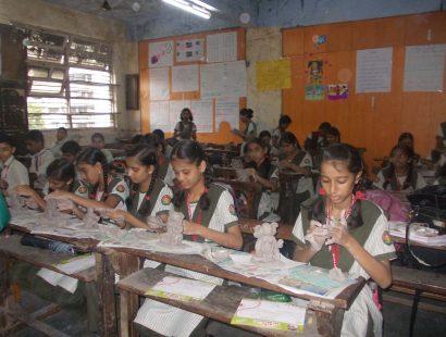 2014 ganpati workshop on M.H. Highschool, Thane