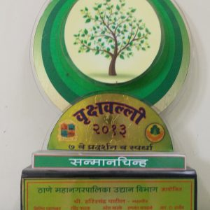 Vrukshavalli 2013( 7th Pradarshan and Competition), Sanmanchinha(Thane Mahanagar Palika Udyan Vibhag