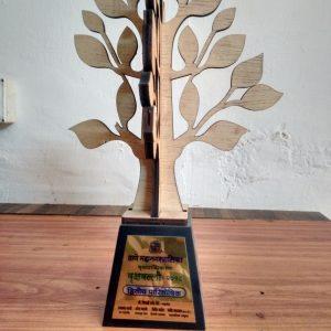 Vrukshvalli 2018 – 2nd prize trophy